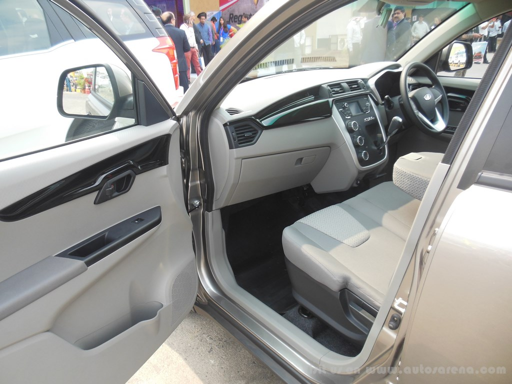 mahindra kuv 100 front interior. Black Bedroom Furniture Sets. Home Design Ideas