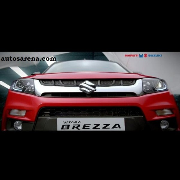 Maruti Suzuki Vitara Brezza Front Revealed Teaser Video Insideon 2017 Land Rover Discovery Sport
