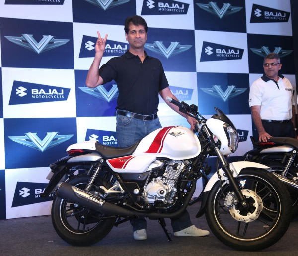 Rajiv Bajaj, MD Bajaj Auto at the unveiling of V Motorcycle-5