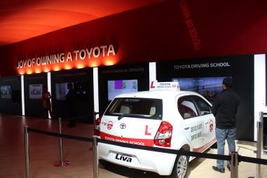 Toyota Driving School 2016 Auto Expo