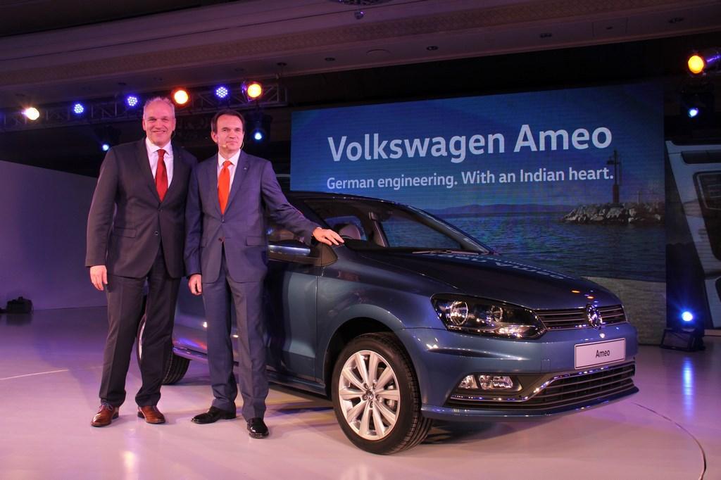 Volkswagen announces World Premiere of compact sedan, Volkswagen Ameo, in India