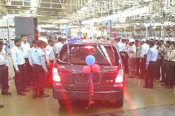 Current Gen Toyota Innova at the factory