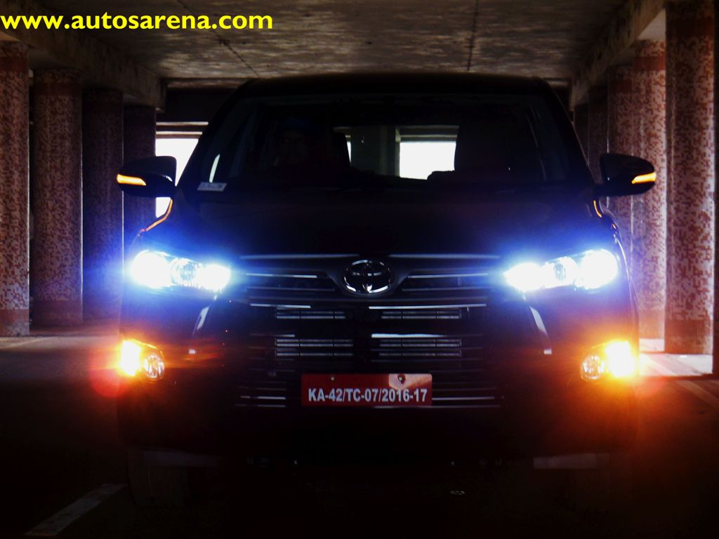 Toyota Innova Crysta Its All About Power Luxury New Lights