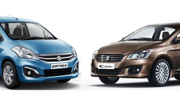 Maruti Suzuki Ertiga & Ciaz Hybrid