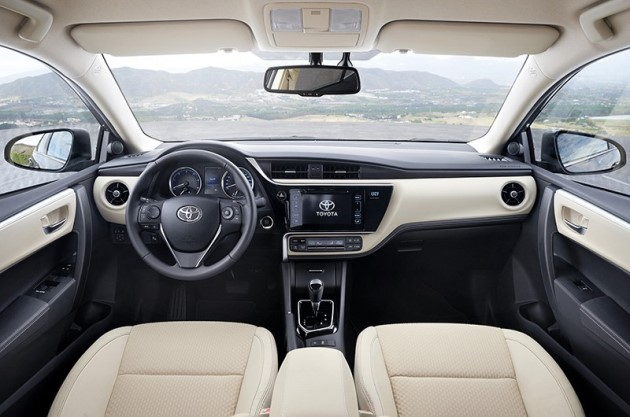 2017 Toyota Corolla Facelift Interior Images