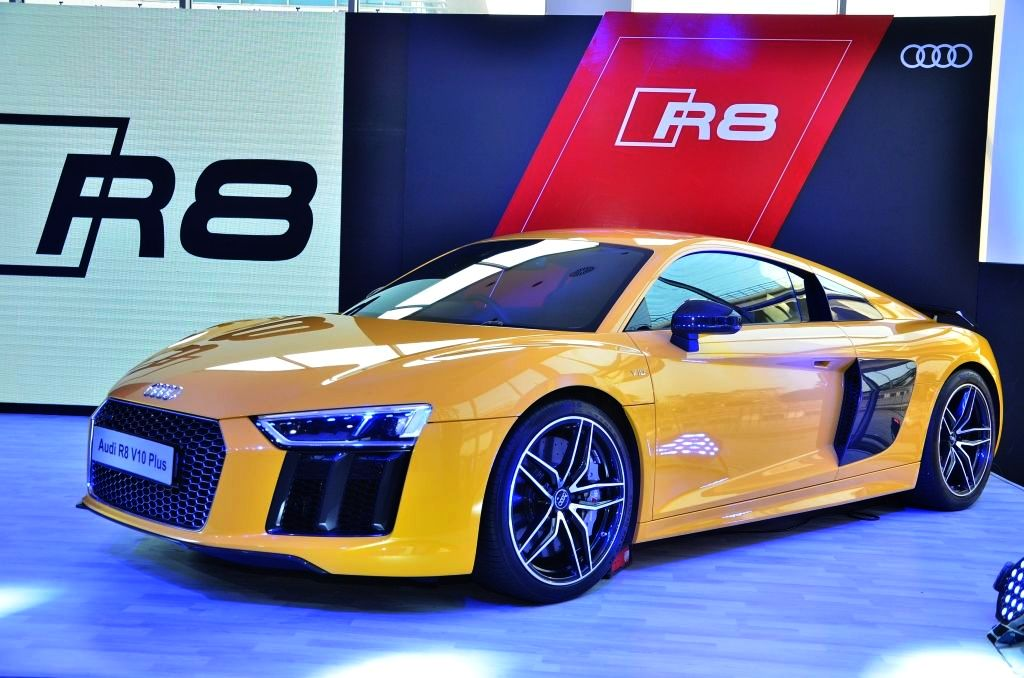new audi r8 v10 plus launched in new delhi. Black Bedroom Furniture Sets. Home Design Ideas