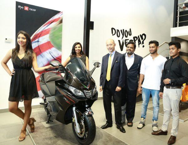 Piaggo Motoplex Kochi Mr. Stefano Pelle, MD Piaggio India with Mr. Shankar, Proprietor, Jey Motors