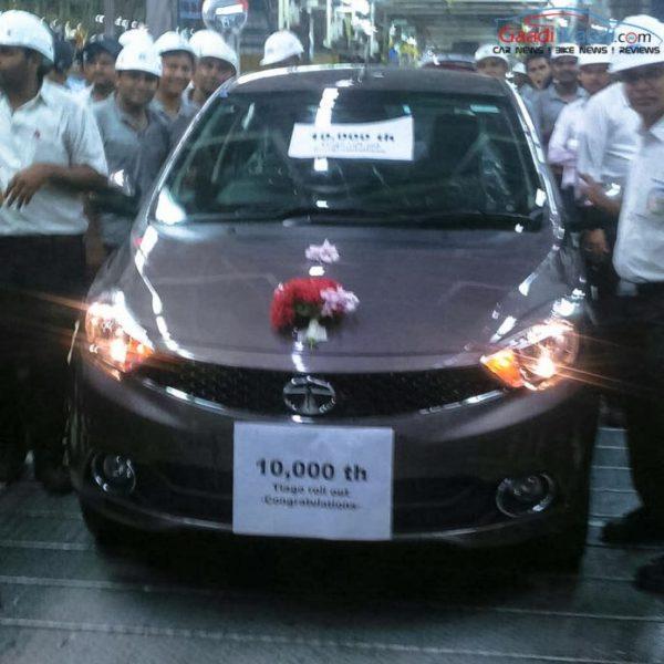 Tata Tiago 10000 unit produced at Sanand