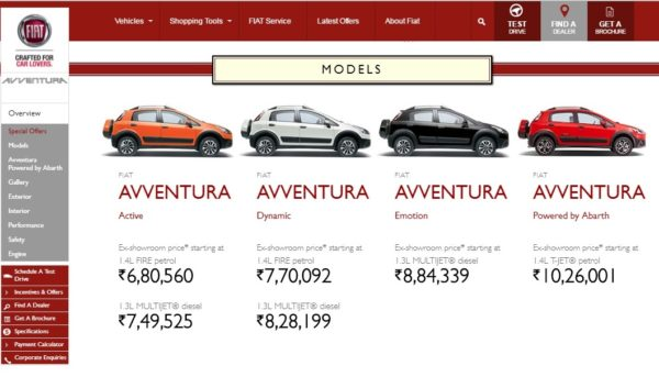 2016 Avventura Powertech Prices