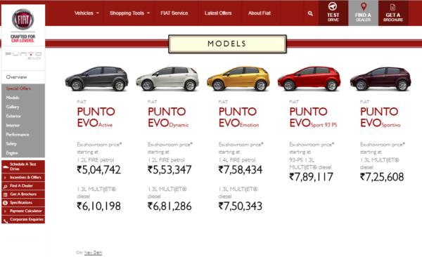 2016 Punto Evo Powertech Prices