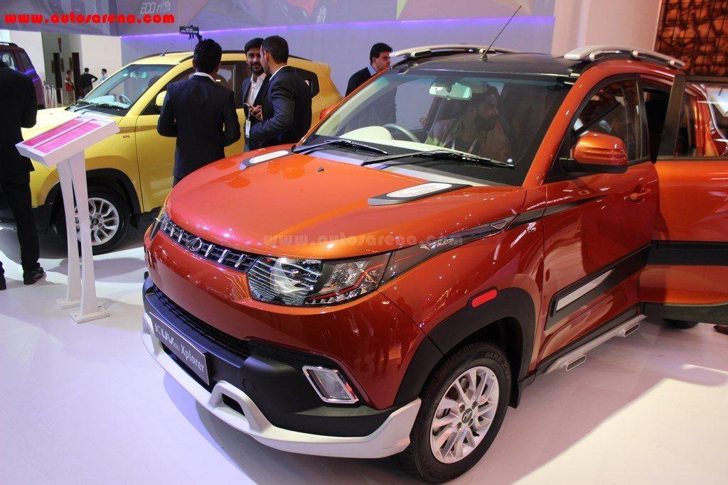 2016 Auto Expo Mahindra Kuv 100 Xplorer Edition Showcased