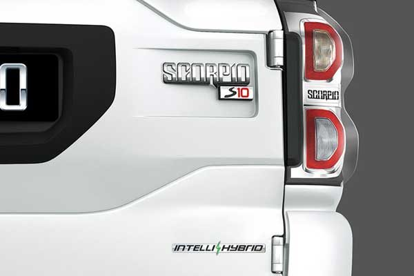 Mahindra Scorpio with Intelli Hybrid badge