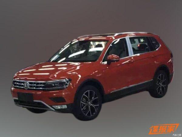 VW Tiguan XL Spied