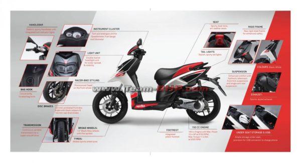 Aprilia SR 150 Brochure