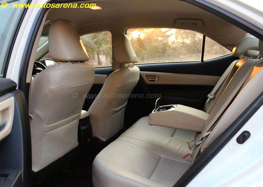 Corolla Rear Seat