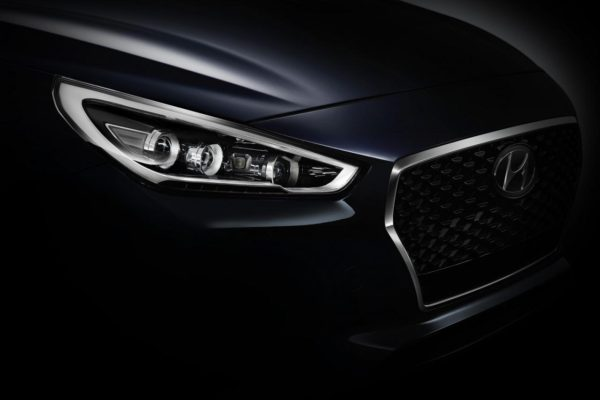 New Hyundai i30 teaser headlamp