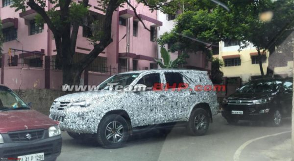 Toyota Fortuner testing in India 1