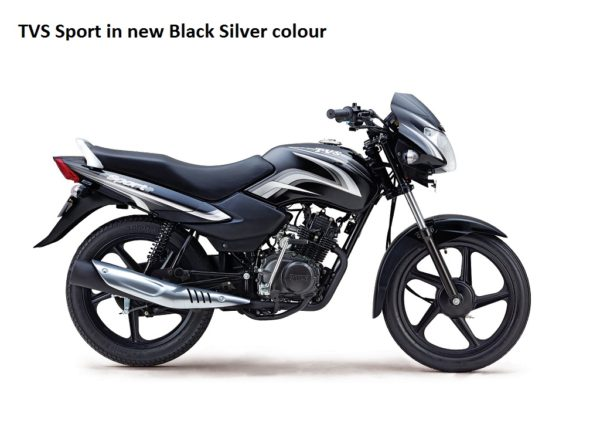 New TVS Sport - Black Silver
