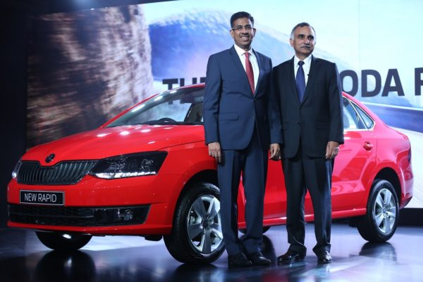 From R to L- Mr. Sudhir Rao, Chairman & Managing Director - Skoda Auto India and Mr. Ashutosh Dixit, Director - Sales, Service & Marketing, Skoda Auto India Launched The New Skoda Rapid (1)