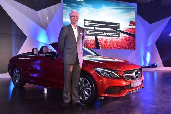 Mr. Roland Folger, Managing Director & CEO, Mercedes-Benz India at the launch of Mercedes C-Class Cabriolet in Delhi