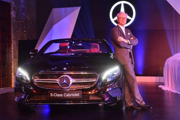 Mr. Roland Folger, Managing Director & CEO, Mercedes-Benz India at the launch of Mercedes S-Class Cabriolet in Delhi