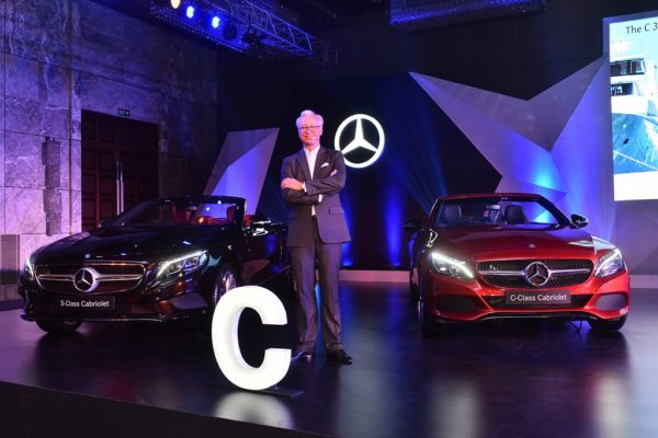 Mr. Roland Folger, Managing Director & CEO, Mercedes-Benz India at the launch of Mercedes S-Class and C-Class Cabriolet in Delhi