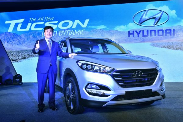 Mr. Y.K. Koo, MD & CEO, Hyundai Motor India Ltd. at the launch of The All New Tucson in New Delhi