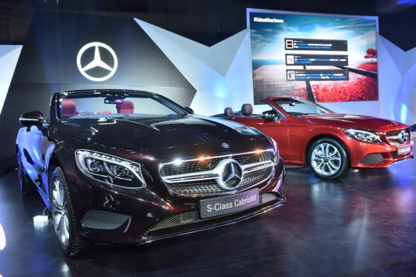 The launch of Mercedes-Benz S-Class and C-Class Cabriolet in Delhi