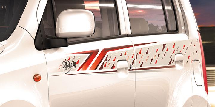 Maruti Suzuki WagonR Felicity Edition Launched - Car body graphics for alto