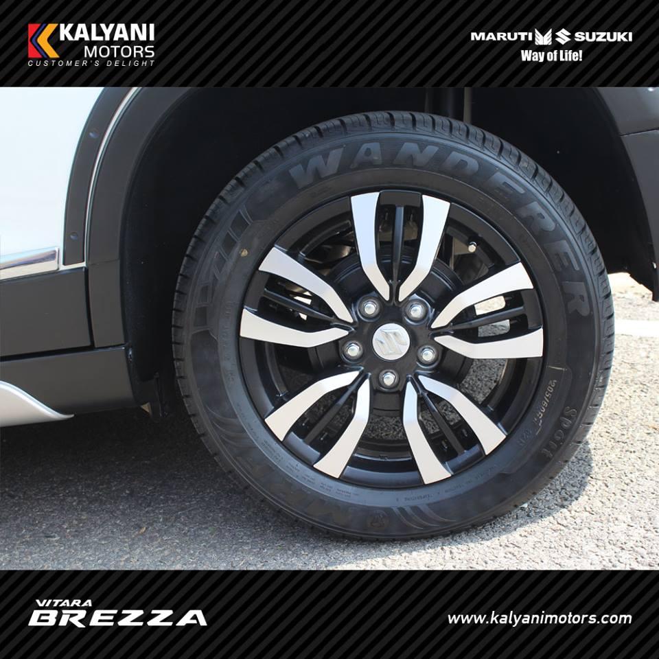 Vitara Brezza Limited Edition Kalyani Motors Alloy wheels