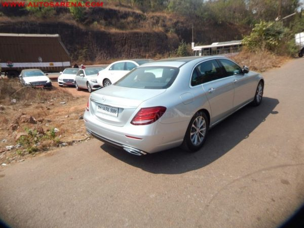 Scoop mercedes benz new e class lwb spotted in goa for Mercedes benz prices in india