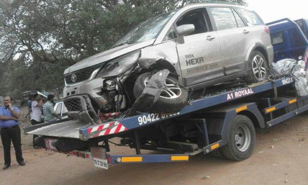 Tata Hexa First Crash Reported Occupants Leave Without A Scratch