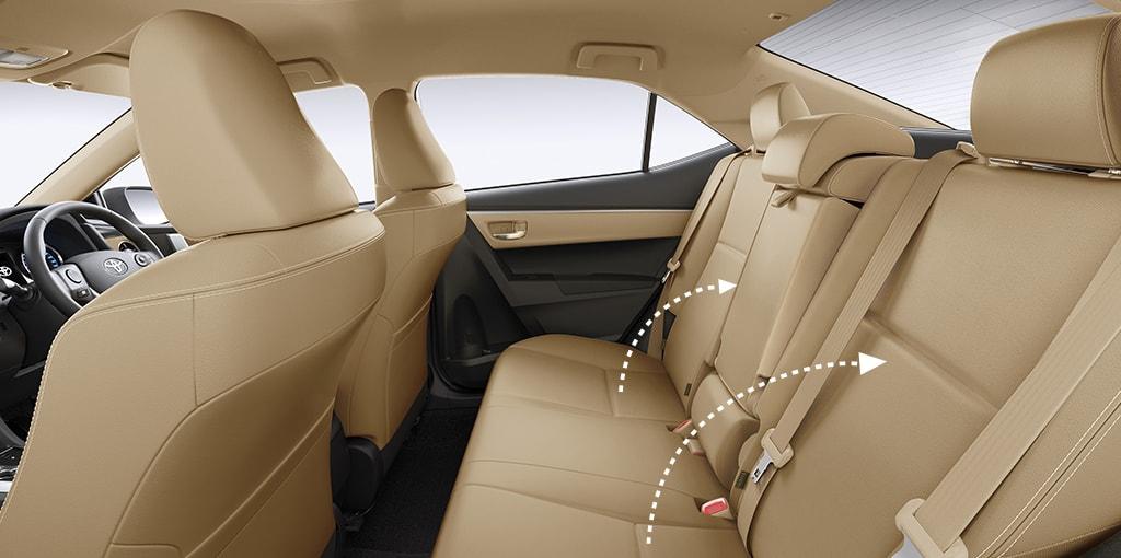 Toyota Corolla Altis facelift rear seat