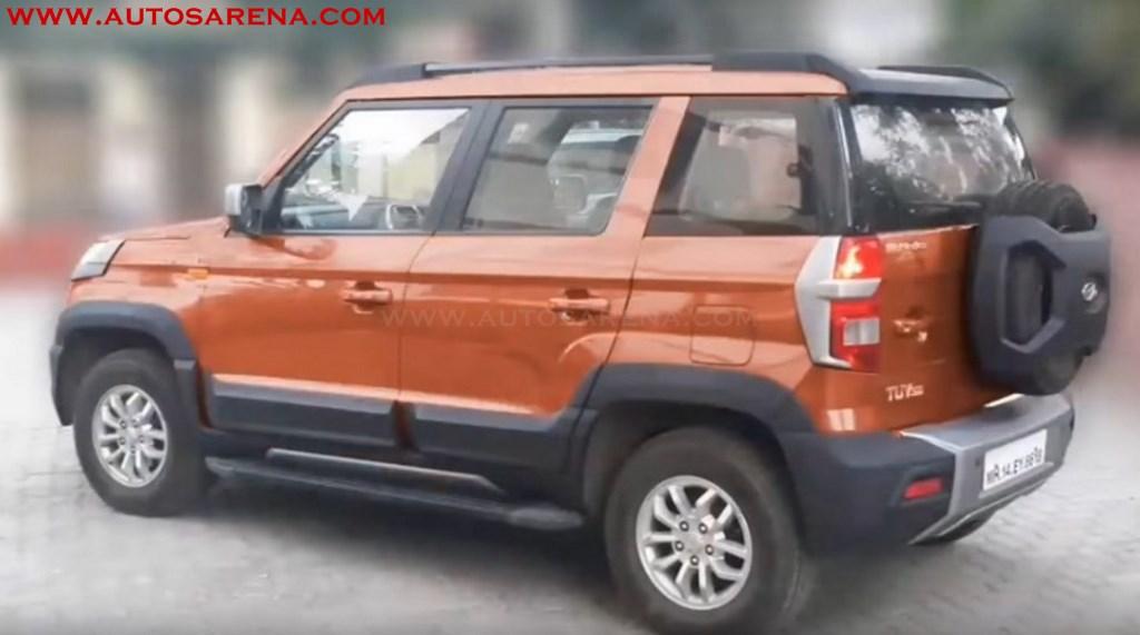 Mahindra Tuv300 Endurance Edition Orange Rear