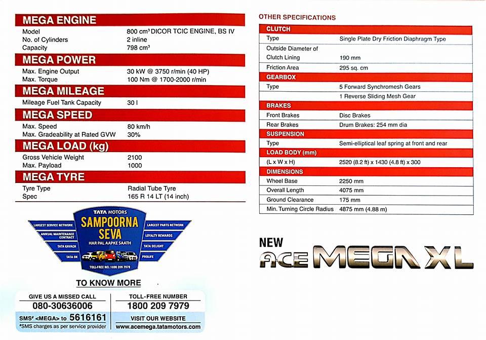 Tata-Ace-Mega-XL-specs-brochure-leaked -