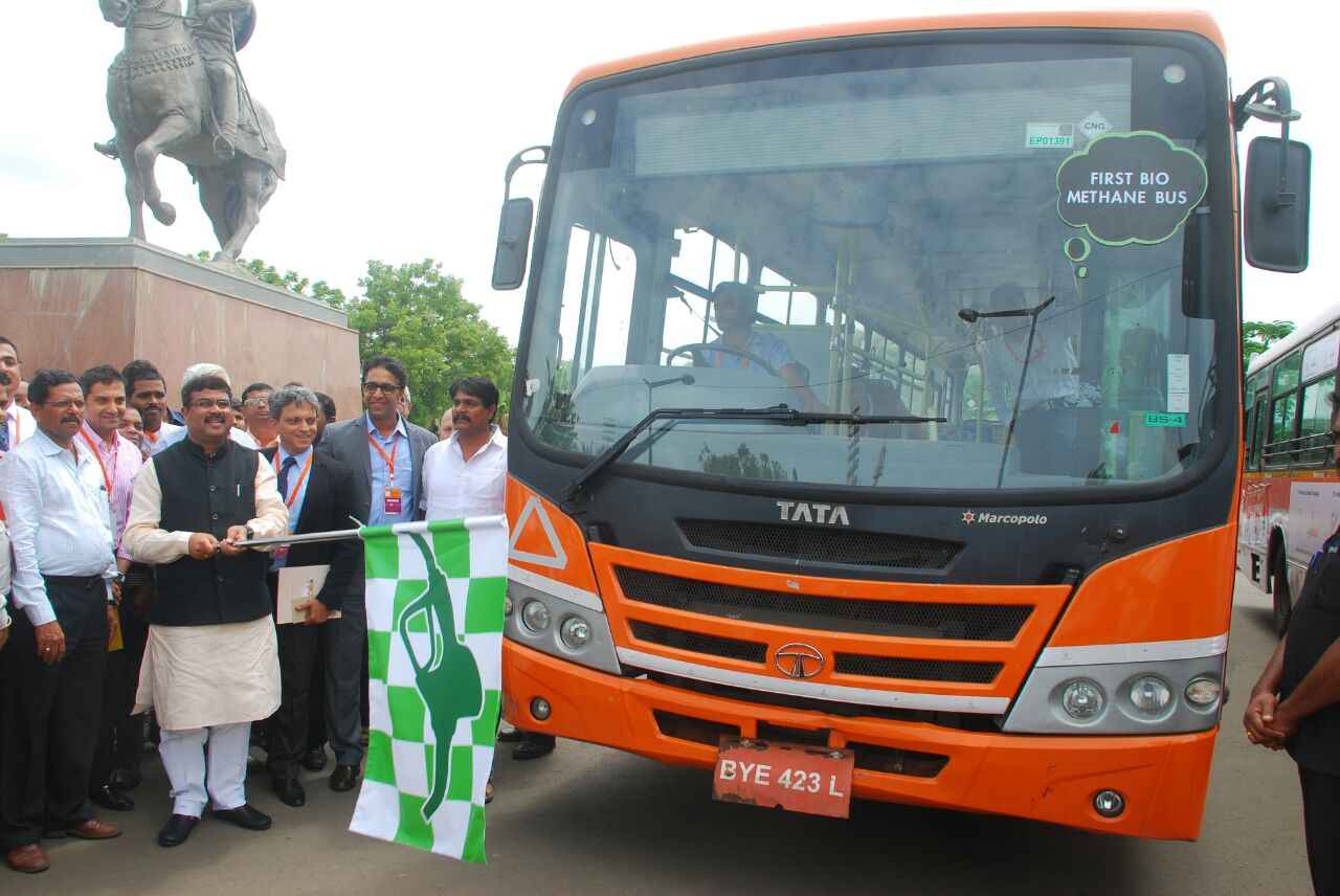 Tata Motors Bio Methane Bus Showcased At Urja Utsav