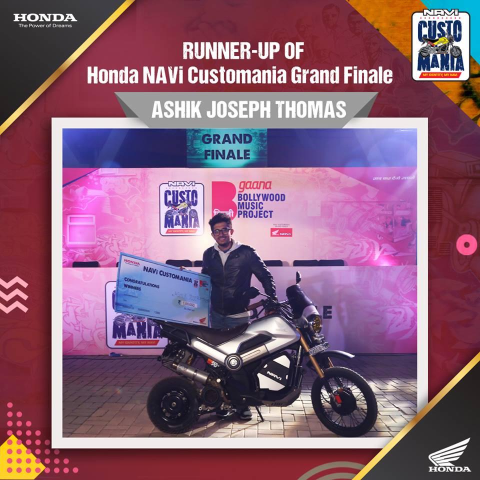 HondaNAVi #Customania! winner Ashik Thomas